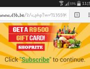 Shoprite Checkers gift voucher scam